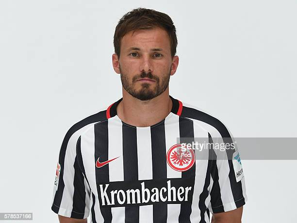 Szabolcs Huszti poses during the Eintracht Frankfurt Team Presentation on July 21 2016 in Frankfurt am Main Germany