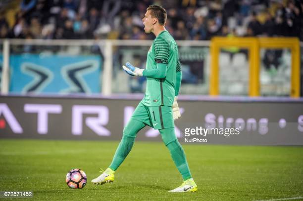 Szczesny Wojciech during the Italian Serie A football match Pescara vs Roma on April 24 in Pescara Italy