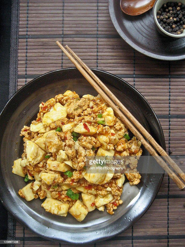 Szechuan Ma Po Dofu : Stock Photo