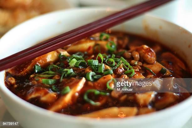 Szechuan spicy tofu noodle