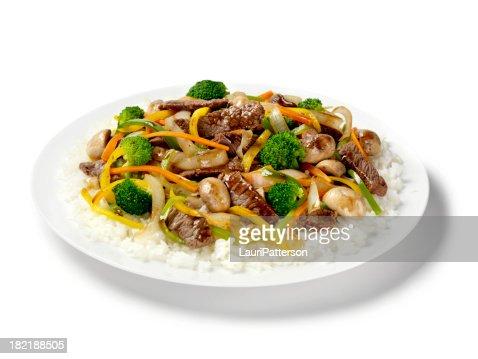 Szechwan Beef with Rice