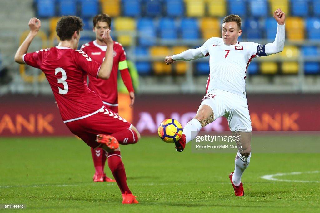 Szymon Zurkowski of Poland during UEFA U21 Championship Qualifier match between Poland and Denmark on November 14, 2017 in Gdynia, Poland.