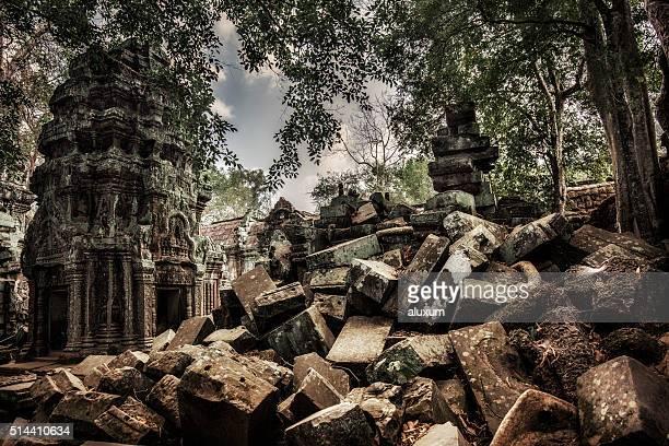 Ta Phrom Angkor ruins Cambodia