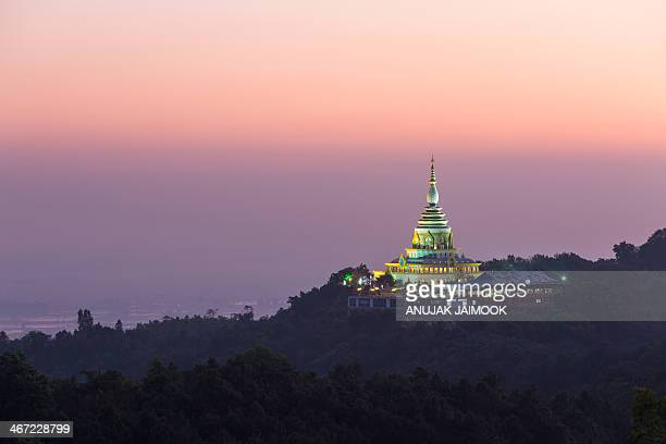 CONTENT] Ta Ton Temple located at Chiang Mai province the north of Thailand There is beautiful pagoda on the top of mountain It made of color glasses...