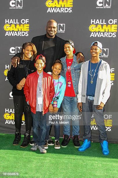 Taahirah O'Neal host Shaquille O'Neal Shareef O'Neal Me'arah O'Nea Shaqir O'Neall and Myles O'Neal arrives at the 3rd Annual Cartoon Network's 'Hall...