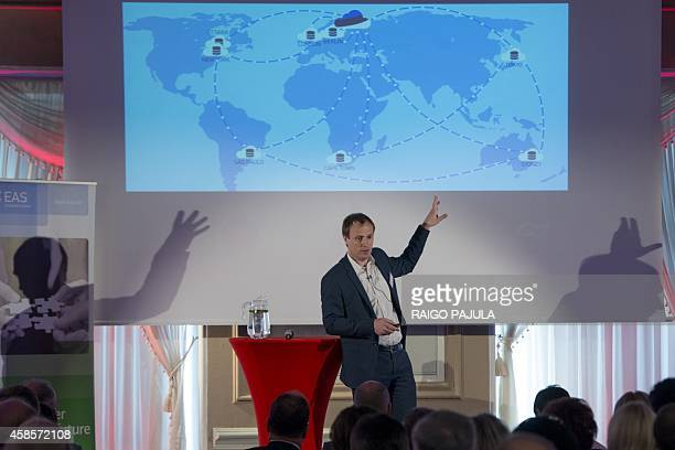 Taavi Kotka a former IT entrepreneur who now runs the project as Estonia's chief information officer presents the eresidency IDs project on July 4...