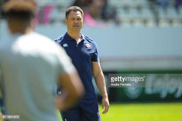 Tabai Matson coach of Bath during the European Challenge Cup semi final between Stade Francais and Bath on April 23 2017 in Paris France