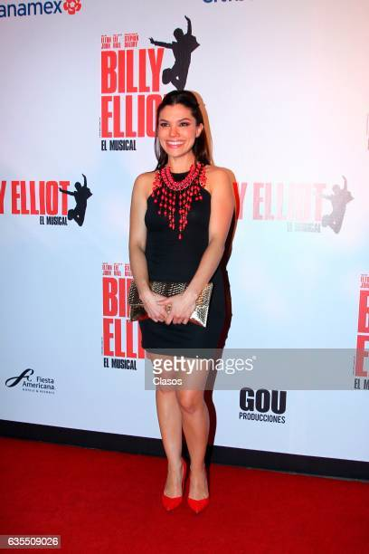Tabata Jalil poses for the camera during the opening night of Billy Elliot Music Show on February 15 2017 in Mexico City Mexico