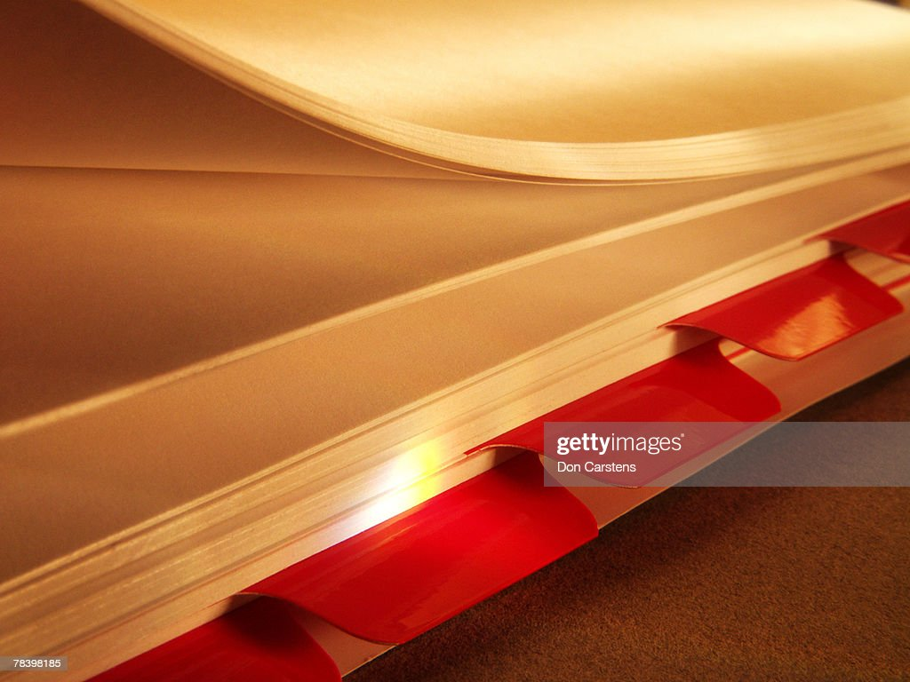 Tabbed pages : Stock Photo