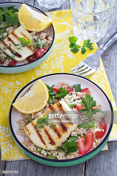 Tabbouleh with grilled haloumi