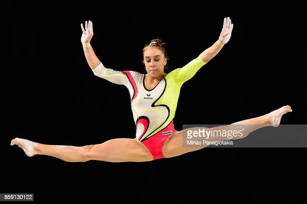 Tabea Alt of Germany competes on the balance beam during the individual apparatus finals of the Artistic Gymnastics World Championships on October 8...