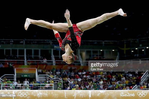 Tabea Alt of Germany competes on the balance beam during Women's qualification for Artistic Gymnastics on Day 2 of the Rio 2016 Olympic Games at the...