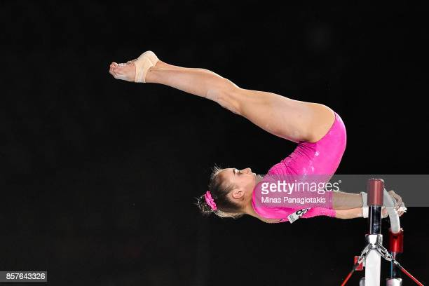 Tabea Alt of Germany competes on the uneven bars during the qualification round of the Artistic Gymnastics World Championships on October 4 2017 at...