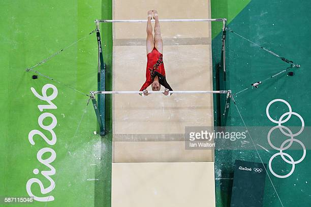 Tabea Alt of Germany competes on the uneven bars during Women's qualification for Artistic Gymnastics on Day 2 of the Rio 2016 Olympic Games at the...