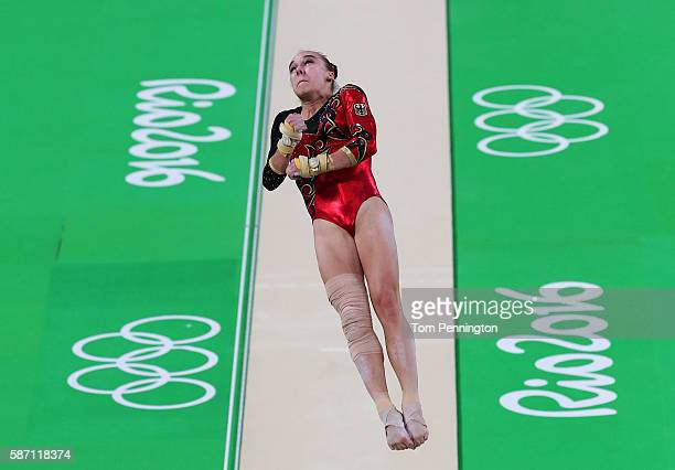 Tabea Alt of Germany competes on the vault during Women's qualification for Artistic Gymnastics on Day 2 of the Rio 2016 Olympic Games at the Rio...