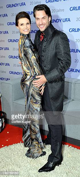 Tabea Heynig and Stefan Bockelmann arrive for the 20 years GrundyUFA anniversary gala on October 28 2011 in Berlin Germany