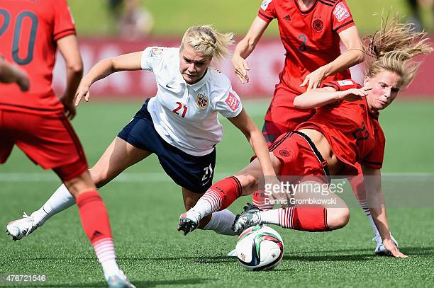 Tabea Kemme of Germany and Ada Hegerberg of Norway battle for the ball during the FIFA Women's World Cup Canada 2015 Group B match between Germany...