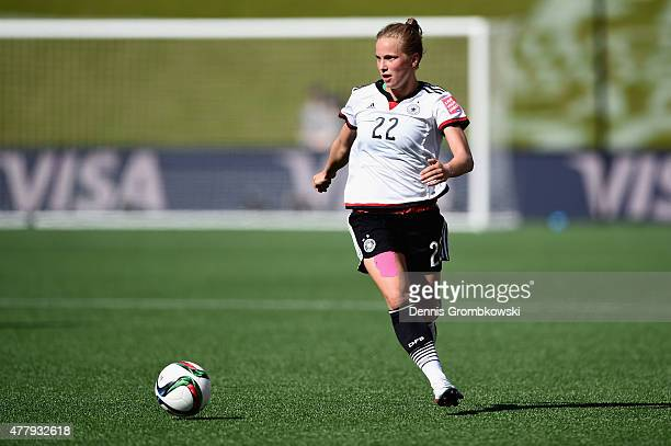 Tabea Kemme of Germany controls the ball during the FIFA Women's World Cup Canada 2015 Round of 16 match between Germany and Sweden at Lansdowne...