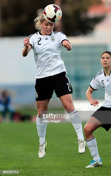 Tabea Kemme of Germany in action during the Women's Algarve Cup match between Germany and Sweden on March 4 2015 in Vila Real de Santo Antonio...