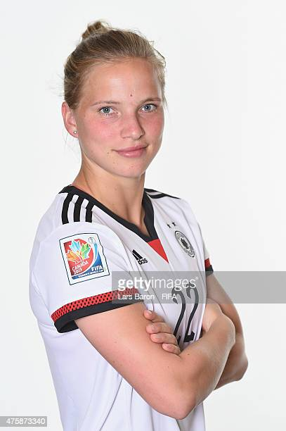 Tabea Kemme of Germany poses during the FIFA Women's World Cup 2015 portrait session at Fairmont Chateau Laurier on June 3 2015 in Ottawa Canada
