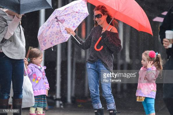 Tabitha Broderick actress Sarah Jessica Parker and Marion Broderick walk to their West Village school on June 7 2013 in New York City