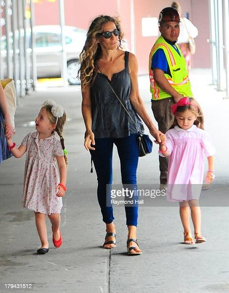 Tabitha Broderick actress Sarah Jessica Parker and Marion Broderick are seen in Soho on September 3 2013 in New York City