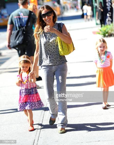 Tabitha Broderick actress Sarah Jessica Parker and Marion Broderick are seen in Soho on September 4 2013 in New York City