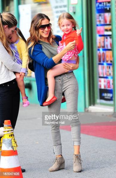 Tabitha Broderick actress Sarah Jessica Parker and Marion Broderick are seen in Soho on September 27 2013 in New York City