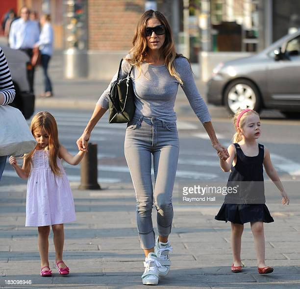Tabitha Broderick actress Sarah Jessica Parker and Marion Broderick are seen in Soho on October 4 2013 in New York City