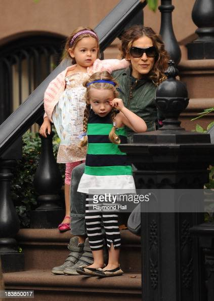 Tabitha Broderick actress Sarah Jessica Parker and Marion Broderick are seen in Soho on October 9 2013 in New York City