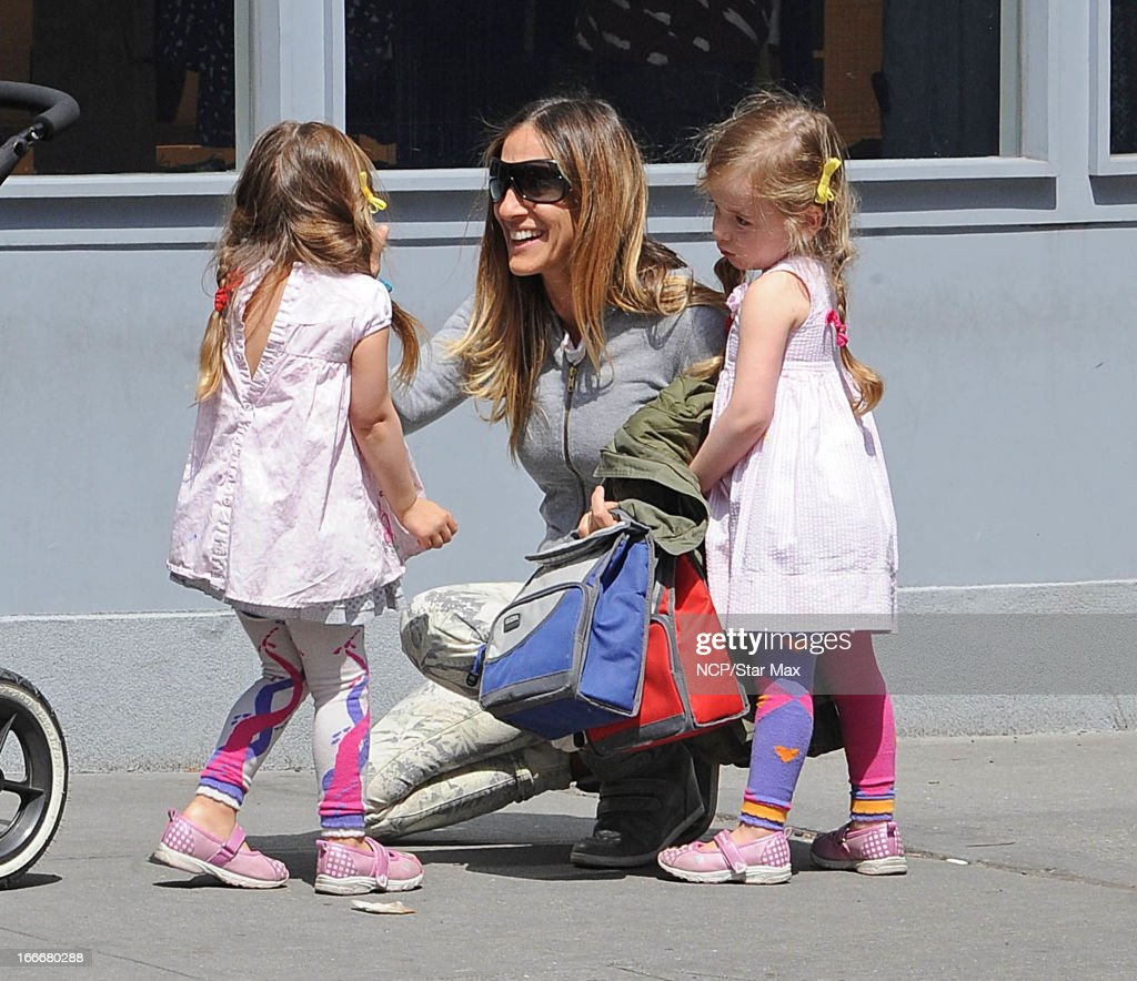 Tabitha Broderick, <a gi-track='captionPersonalityLinkClicked' href=/galleries/search?phrase=Sarah+Jessica+Parker&family=editorial&specificpeople=201693 ng-click='$event.stopPropagation()'>Sarah Jessica Parker</a> and Marion Broderick as seen on April 15, 2013 in New York City.