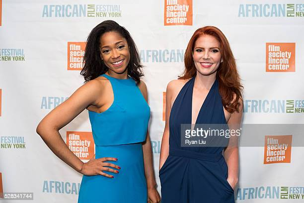 Tabitha Hollbert and Amy Halldin attend the 23rd New York African Film Festival Opening Night at Walter Reade Theater on May 4 2016 in New York City
