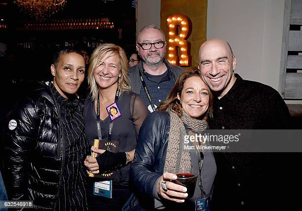 Tabitha Jackson Annie Roney Fentonn Bailey Susan Turley and composer and founder of Oovra Music Joel Goodman attend the Film Independent...