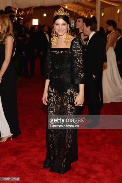 Tabitha Simmons attends the Costume Institute Gala for the 'PUNK Chaos to Couture' exhibition at the Metropolitan Museum of Art on May 6 2013 in New...