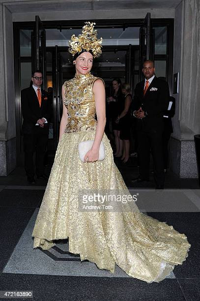 Tabitha Simmons departs The Mark Hotel for the Met Gala at the Metropolitan Museum of Art on May 4 2015 in New York City