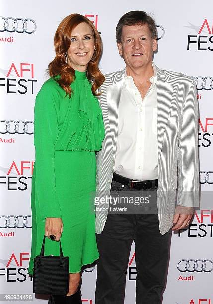 Tabitha Soren and Michael Lewis attend the premire of 'The Big Short' at the 2015 AFI Fest at TCL Chinese 6 Theatres on November 12 2015 in Hollywood...