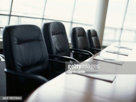 table and chairs in a conference room : Stock Photo