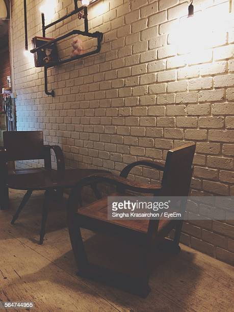 Table And Chairs In Cafe