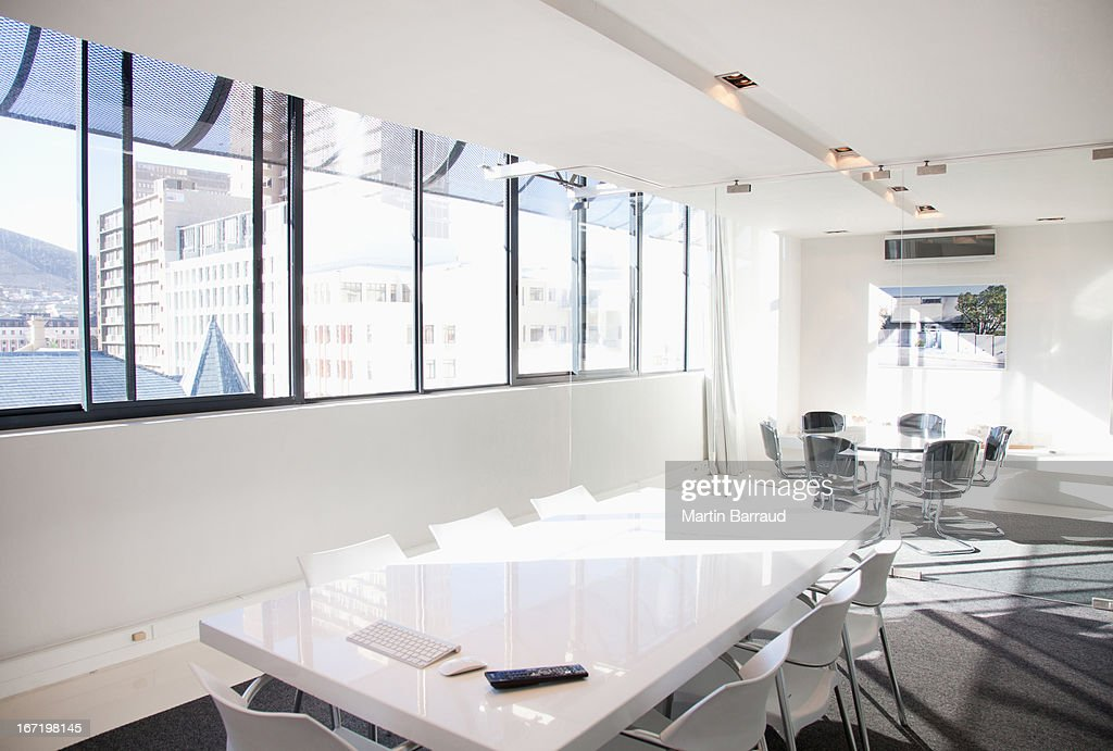 Table and chairs in conference room : Stock Photo