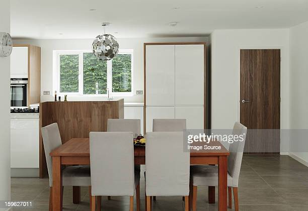 Table and chairs in dining area