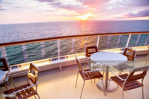 Table and Chairs on a Ship