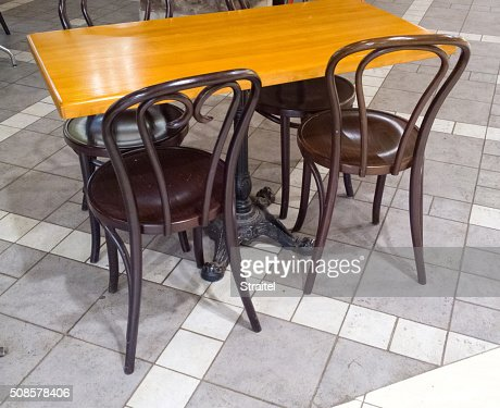 Table and chairs. : Stock Photo
