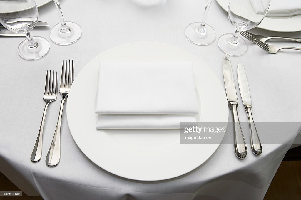 A table at a restaurant