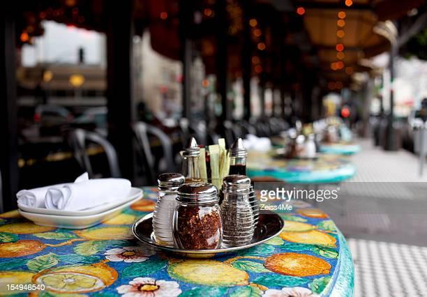 Table at sidewalk cafe