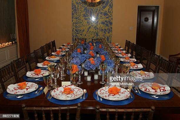 Table attends Kent and Liz Swig Host a Dinner In Honor of Artist Gary Hume at Kent and Liz Swig Duplex on September 22 2005 in New York City