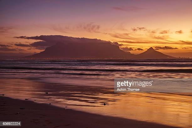 Table Bay Sunset View, Bloubergstrand, Cape Town, South Africa