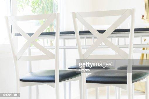 Mesa Cadeira de Jantar : Foto de stock