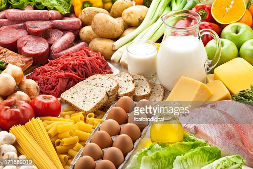 Food pyramid stock photos and pictures getty images - Different types of entrees ...