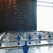 Table football, close-up