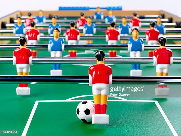Table football from eye level